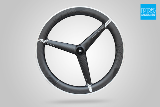 PRO's 3-Spoke Triathlon Wheel now available as a Clincher