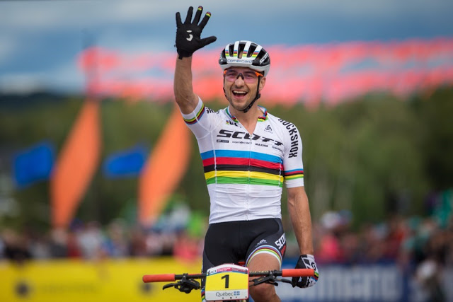 Nino Schurter's 5th World Cup Champion Title, 5th consecutive World Cup Victory in 2017, 25th World Cup Win in total