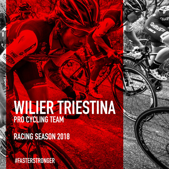 Wilier Triestina is the first title partner also for the 2018 Cycling Season