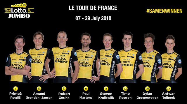 Le Tour de France - Team LottoNL–Jumbo group