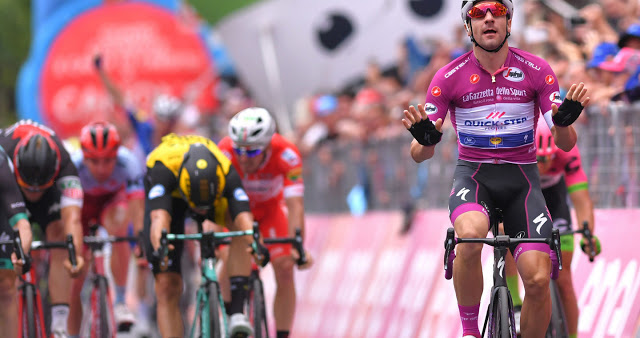 Viviani gets his hat-trick in style at the Giro d'Italia