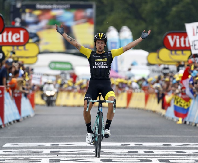 Roglic climbs and descends to stage victory and third position overall in queen stage Tour de France