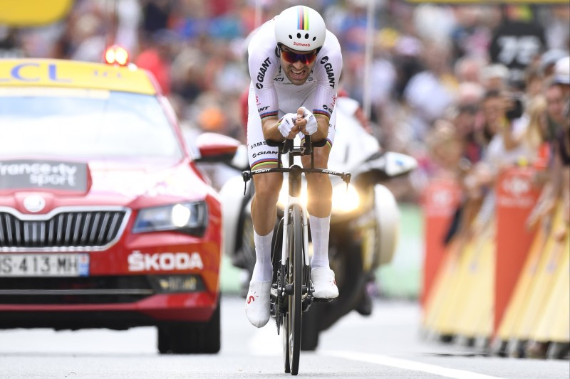 Tom Dumoulin storms to TDF time trial stage 20 win and secures 2nd in the GC
