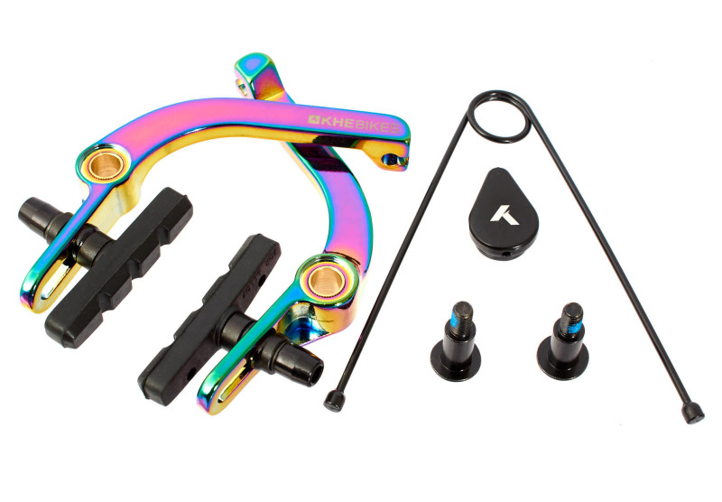The New KHE Bikes U-brakes in Oilslick and Black