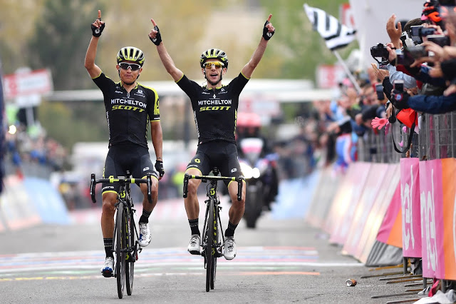 Mitchelton-SCOTT erupt on Etna to go one-two and take race lead at Giro d'Italia