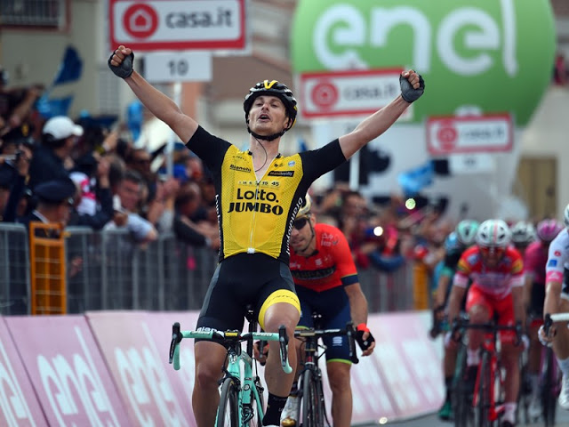 Battaglin sprints to impressive win in Giro d'Italia