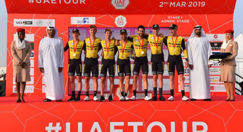 Impressive Win for Team Jumbo-Visma in Team Time Trial UAE Tour
