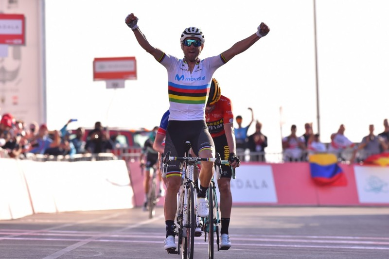 Alejandro Valverde Claims First Win as World Champion
