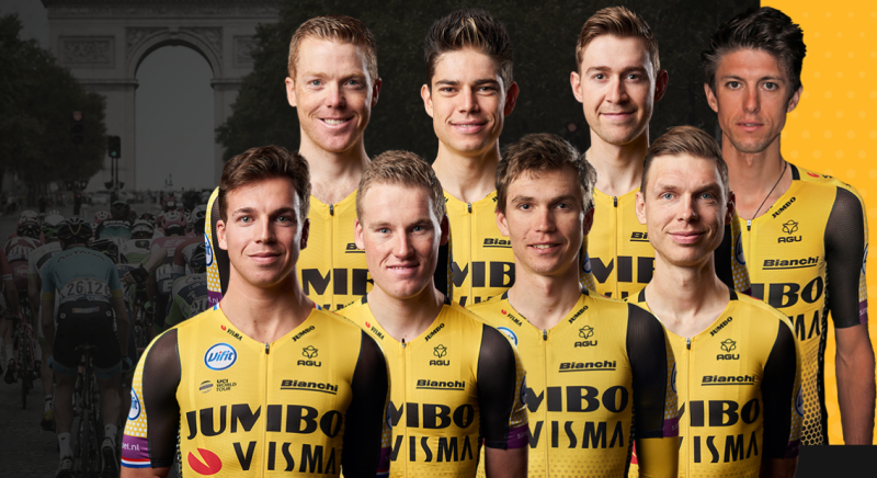 Team Jumbo-Visma with Sprint and GC Ambitions to Tour de France