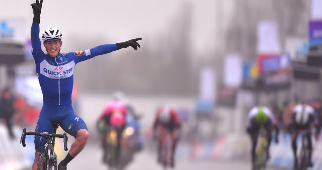 Yves Lampaert rides into the history books at Dwars door Vlaanderen