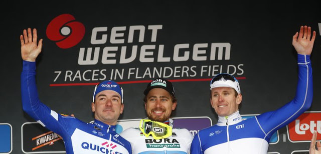 Perfect sprint for Peter Sagan as BORA-hansgrohe deliver UCI World Champion to third Gent-Wevelgem victory