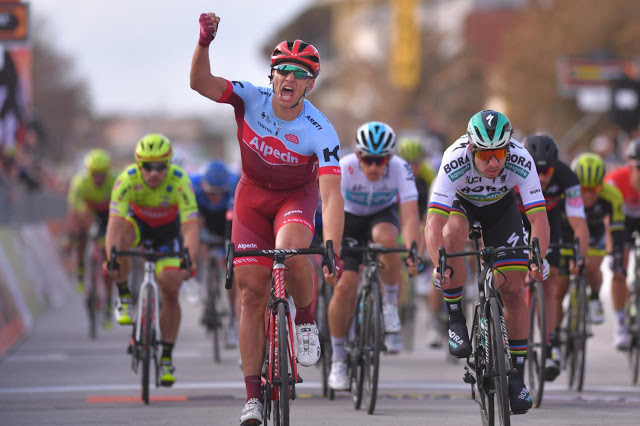 Marcel Kittel earns his first victory in Katusha Alpecin colors on Tirreno-Adriatico Stage 2