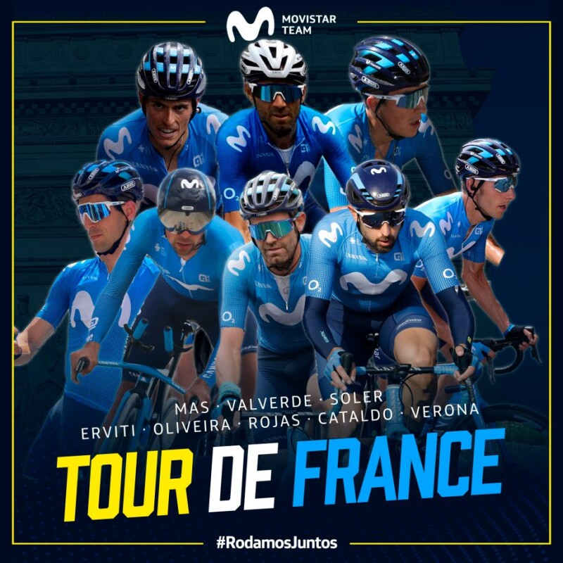 Movistar Team Confirms 2020 Tour de France Lineup