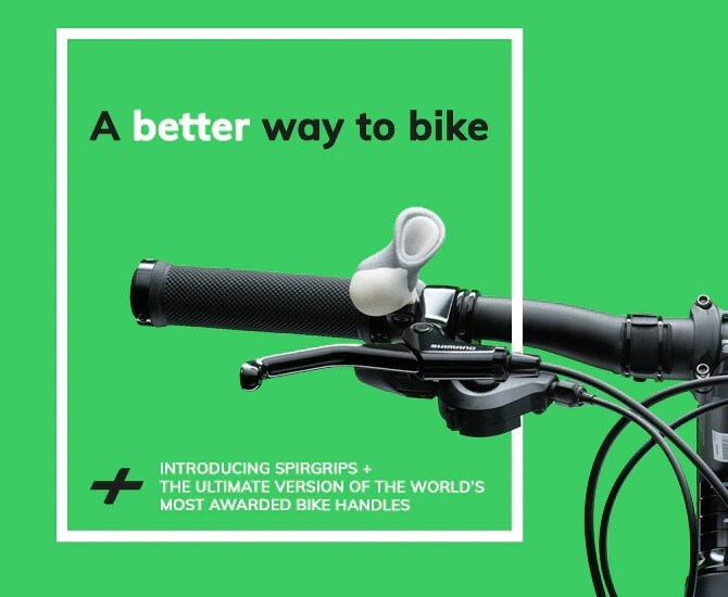 Improve Your Bike with SPIRGRIPS +, the Ultimate Version of World's Most Awarded Ergonomic Bike Handles, Now Live on Kickstarter!